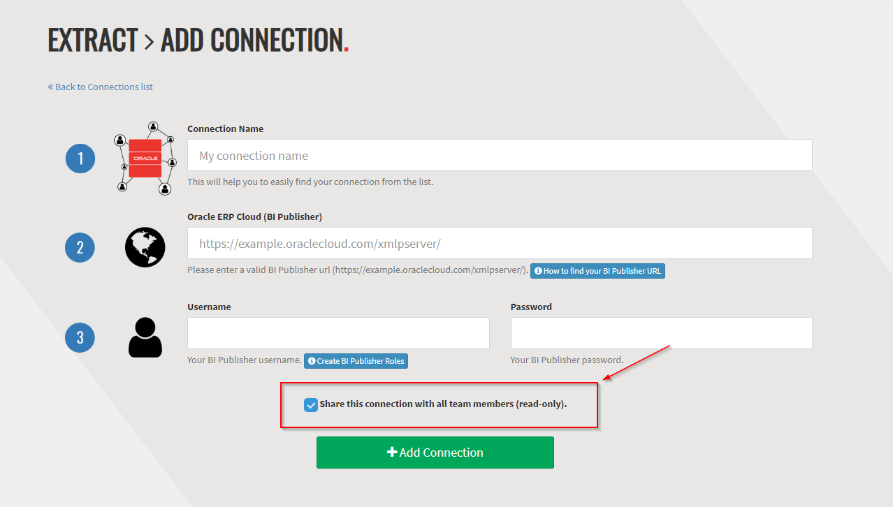 Rapid4Cloud - Oracle Connection Shared Option